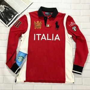 Ralph Lauren Italia Italy polo collar long sleeve